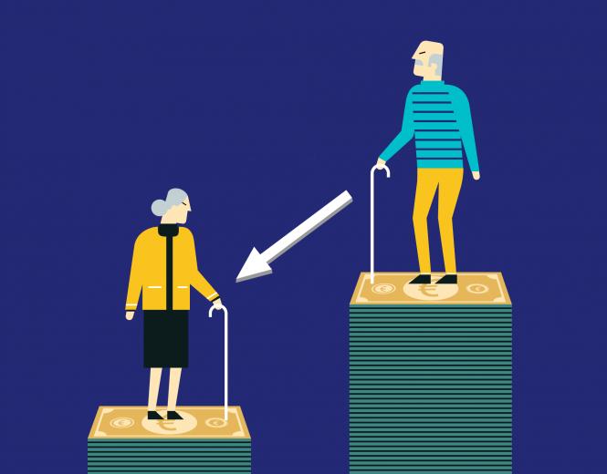 Moterys gauna mažesnę pensiją